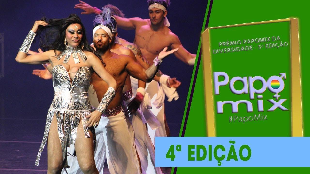 Photo of Diva Transex Cláudia Edson em performance especial na abertura da 5ª edição do Prêmio PapoMix