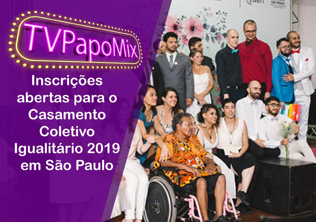 Photo of Inscrições abertas para o Casamento Coletivo Igualitário 2019 em São Paulo