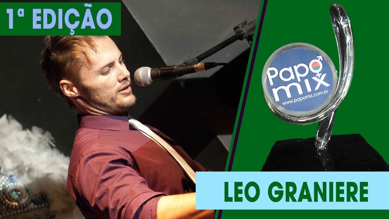 Photo of Cantor Leo Graniere em apresentação especial na 1ª edição do Prêmio PapoMix da Diversidade