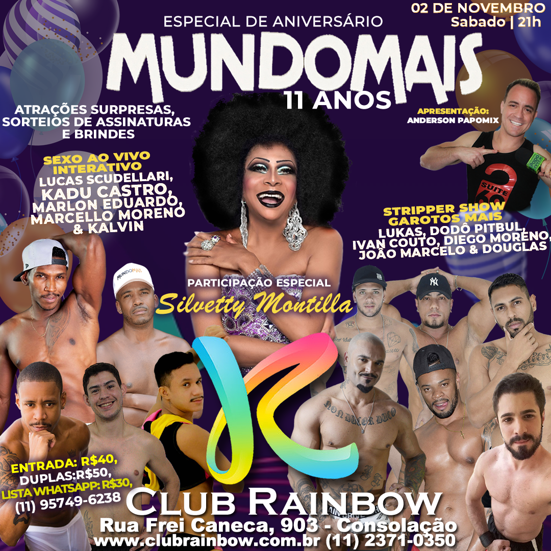 Photo of Club Rainbow comemora 11 anos do site MundoMais com festa especial