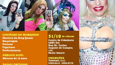 Photo of Workshop gratuito de Drag Queen no Centro de Cidadania LGBT da Zona Sul – Participe